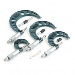 4 Parça Mekanik Mikrometre Seti
